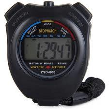 Stopwatch - Grote Display - Zwart-0