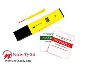 Now4you PH Meter - inclusief ijkvloeistof voor zwembad, spa, aquarium etc-0